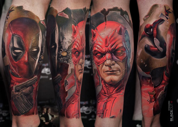 superhero tattoos