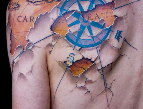 Shoulder Compass Tattoo