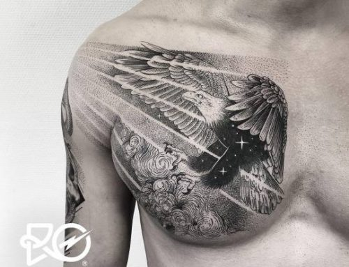 Shining eagle tattoo